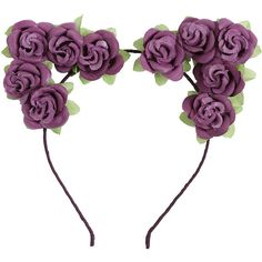 Purple Rose Cat Ears Headband Hot Topic ($7.12) ❤ liked on Polyvore featuring accessories, hair accessories, head wrap headband, rose headbands, hair bands accessories, rose hair accessories and cat headband