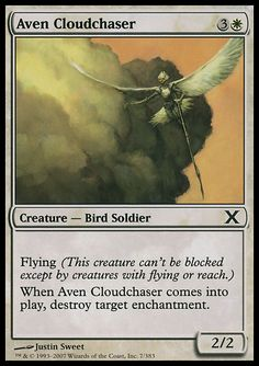 Aven Cloudchaser - Creature - Bird Soldier - Sun - White - 10TH Edition - Magic The Gathering Trading Card