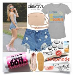 """""""Snapmade 3/2"""" by creativity30 ❤ liked on Polyvore featuring Boohoo, Puma and WALL"""