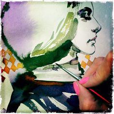 Anna Halarewicz, malarstwo, ilustracja, moda, fasion, art, sztuka, Work in progress, illustration