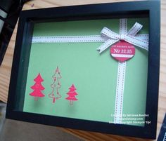 Use the extra shadow boxes for cute Christmas decorations