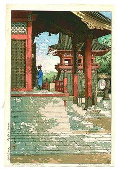 川瀬巴水 Hasui Kawase『目黒不動堂』