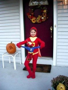 Word girl costume and it includes Capt. Huggyface!