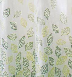 InterDesign Verde Shower Curtain, Green
