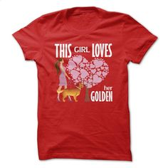 This Girl Loves Her Golden T Shirt, Hoodie, Sweatshirts - custom hoodies #shirt #T-Shirts