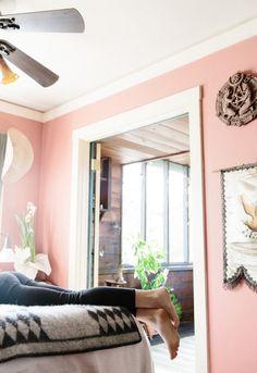 Peachy pink walls