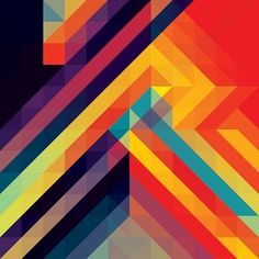 Coloured geometric patterns.