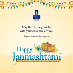 May Lord Krishna's flute invite the melody of love and happiness into your life. Happy Janmashtmi!