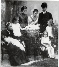 1884 Karl Theodor of Bavaria and his family.