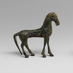 Bronze statuette of a horse  Period: Archaic Date: 6th century B.C. Culture: Greek Medium: Bronze