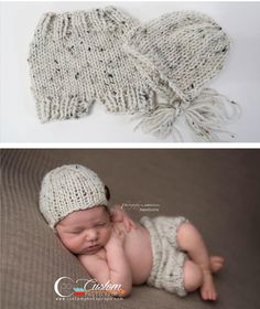 This soft ivory tweed handmade knit bonnet is perfect for a photography prop  or day out in the cooler temperatures! 476b16808c7f