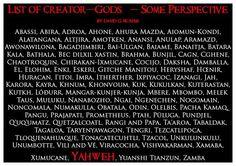 Creator gods.