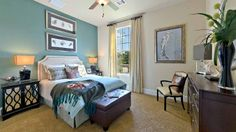 Beautiful, serene guest bedroom perfect for having company! #guestbedroom
