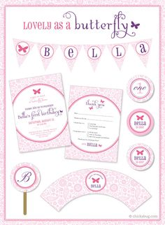 Butterfly theme party - paper goods & printables!