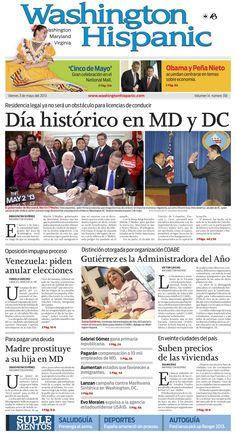 Lea aquí nuestra edición impresa de hoy, 3 de mayo de 2013: http://www.washingtonhispanic.com/index.php?mod=historico=286