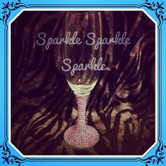 Stunning pearl stem champagne flute. Created by me. Keep following. Www.facebook.com/sparktacularcreations
