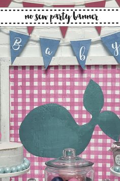 Make a no sew party banner in minutes with the simple DIY from Everyday Party Magazine #DIY #PartyBanner #FeltBanner