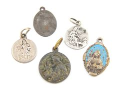 Vintage Catholic Medal Lot Saint Joseph, Lady of Mount Carmel, Jesus Christ, Saint Anthony - Religious Charms - O73 by LuxMeaChristus on Etsy