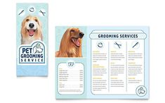 Pet Grooming Service Brochure Template by @StockLayouts