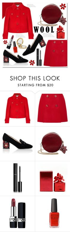 """""""Wool Jacket/Mini Skirt Set"""" by queenvirgo ❤ liked on Polyvore featuring Prada, Chanel, Marc Jacobs, Christian Dior, Kester Black and Odeme"""