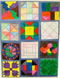 Education-Unplugged - We made a paper pieced quilt using the codes for the Underground Railroad.