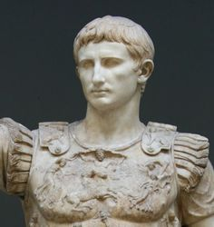 Augustus (Latin: Imperator Caesar Divi F. Augustus, 23 September 63 BC – 19 August 14 AD) was the founder of the Roman Empire and its first Emperor, ruling from 27 BC until his death in 14 AD.