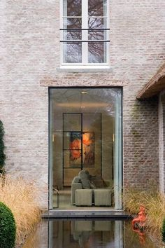 beautiful white washed bricks and steel windows. from Belgium Pearls