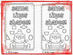 Little Miss Kindergarten - Lessons from the Little Red Schoolhouse!: Freebie Santa Likes Shapes!