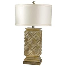 I pinned this Geometric Table Lamp in Pearl from the Hale & Rossi event at Joss & Main!