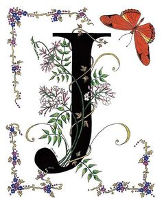 Flowers and letters for decoupage Lettering Design, Hand Lettering, Illustration Art, Illustrations, Letter J, Alphabet And Numbers, Alphabet Signs, Illuminated Letters, Monogram Letters