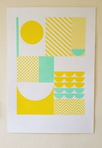 Image of 'Happiness' A2 Screenprint Yellow
