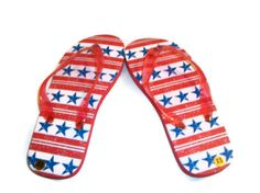 Girls Flip Flops with Yarn Embellishment - Spring and Summer Fashion Accessory - Made to Order