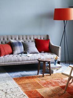 dekoideen wohnzimmer orange 29 ideen frs wohnzimmer streichen tipps ...