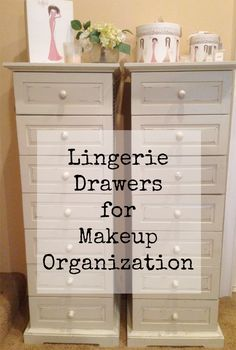 Lingerie Drawers for Makeup Organization oooooooh answer to my makeup hoarding problem!