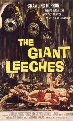 """Movies in my DVD Collection #504 - Attack of the Giant Leeches (1959) """"What was the terrible power of the DEMONS OF THE SWAMP"""""""