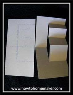 Stair step card tutorial.