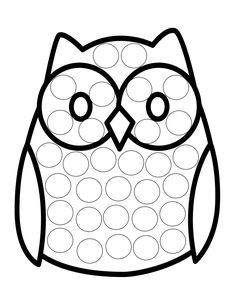 Dot Coloring - use bingo markers to make eye & hand coordination fun Fall Preschool, Preschool Learning Activities, Preschool Crafts, Toddler Crafts, Crafts For Kids, Diy For Kids, Bird Crafts, Fall Crafts, Bird Stencil