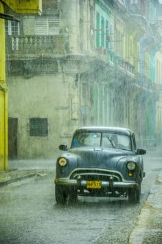 Rain in the Havana.