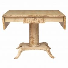 Biedermeier Style Ivory-Tone Sofa or Writing Table in Birch, Sweden c. Antique Desk, Antique Furniture, Antique Tables, Writing Table, Sofa Tables, Antiques For Sale, Modern Sofa, Working Area, Table Furniture