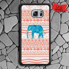 Elephant Aztec Art Samsung Galaxy S7 Edge Black Case