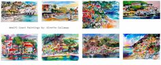 Blowout 24 Hour Sale -  50% OFF Original Amalfi Italy Paintings  by Artist Ginette Callaway  - ends Dec 6 Midnight         -------------...