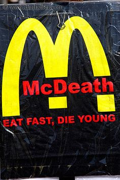 Recently, I was at a health fair and there was a booth with an unwrapped McDonald's burger, just patty & bun. The nutritionist asked me to guess how old it was. It had no signs of age, other than the bun texture. I guessed 4 months old. It was 7 years old... just imagine what it does inside your body. Ick!