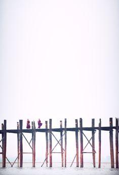 U Bein Bridge (Burmese: ဦးပိန် တံတား) is a crossing that spans the Taungthaman Lake near Amarapura in Myanmar. The 1.2-kilometre (0.75 mi) bridge was built around 1850 and is believed to be the oldest and longest teakwood bridge in the world.  Credited by Mazda Global Team  #travel #UBeinBridge #monks #myanmar #Inlelake #lifestyle #mazda #cars #mazdamyanmar
