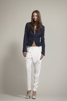 Shen Crossover Pants. White pants never done better. A New Zealand designer who is nailing it.