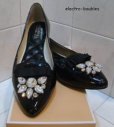 SOLD!!!  NIB Michael Kors Felicity Black Patent Leather Flat Size 8M - Retail $149.95