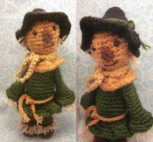 Scarecrow Wizard of Oz Amigurumi Crochet Doll by *Spudsstitches