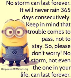No storm can last forever