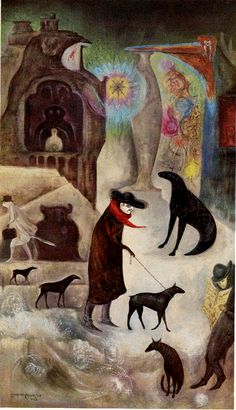 Leonora Carrington. 'around wall street or portrait of pablo in ny'