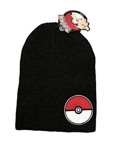 15c9c735bf0 Pokemon Pokeball Patch Gray Slouch Beanie Costume Hat     Learn more by  visiting the image link.