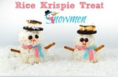 Rice krispie snow men